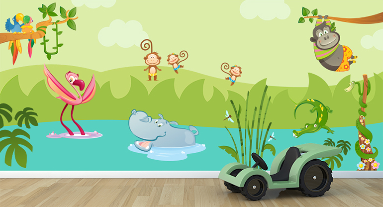 the Great Jungle, Jungle Wallstickers for Kids