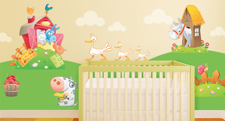 the Cheerful Farm,  Wall Stickers for Children
