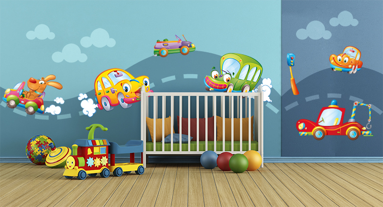 Behind the Wheel,  Wall Stickers for Children Bedroom