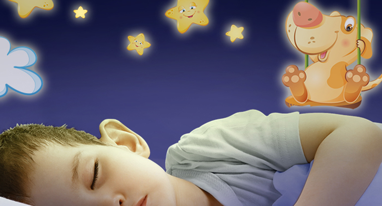 Fluo1 Sweet Dreams, Fluorescent Wallstickers for Children