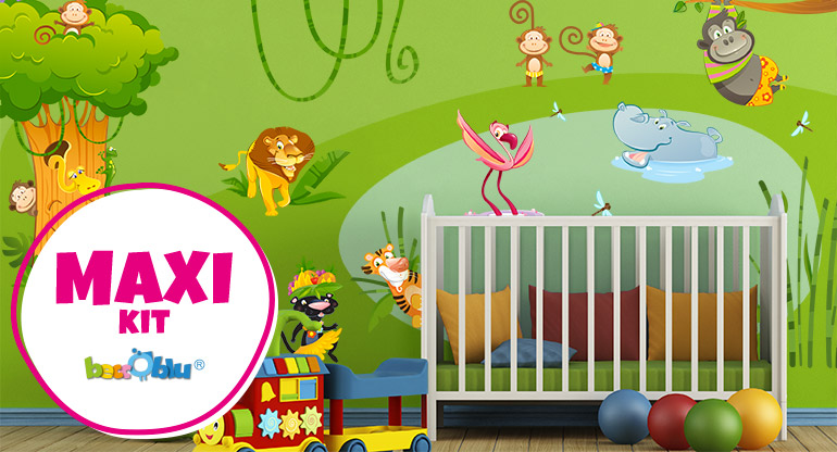 Wallstickers Kit for Children Room, Maxi Kit Beccoblu