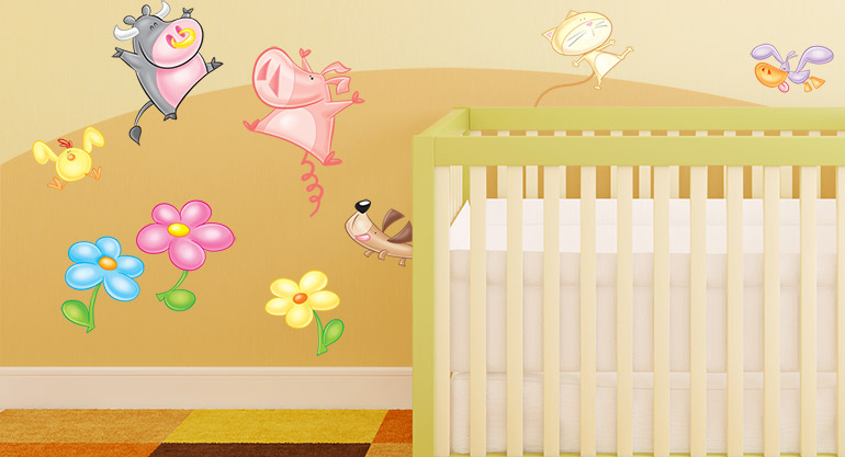 Wall Decals for Childrens Bedrooms, in the Country