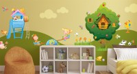 Wallstickers for Kids, Trees, Flowers, Nature, All at the Park