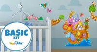 Beccoblu Basic Kit, Wallstickers Selection for Kids Bedroom