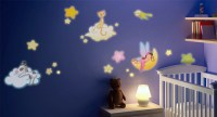 Fluorescent Wall Decals for Children Bedrooms, Fluo2 Friends of the Night
