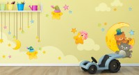 Wall Decals for Children Bedroom, Moon and Stars