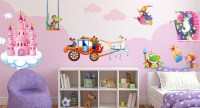 Wizards and Princesses, special Wall Stickers for Children Bedroom