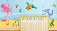 Sea and Fish Wallstickers for Kids, a Dip in the Sea