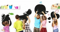 The Wall Adhesive Blackboards, Wall Decals for Children Bedrooms