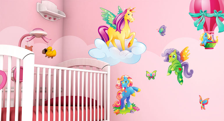 the Magical Unicorns,  Wall Decor for Children Room