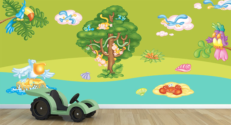 Wall Stickers for Childrens bedrooms, Wellcome to the Tropics!