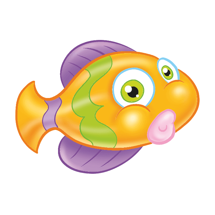 Tropical Fish Wall Decals for Kids, Yellow Fish Sticker