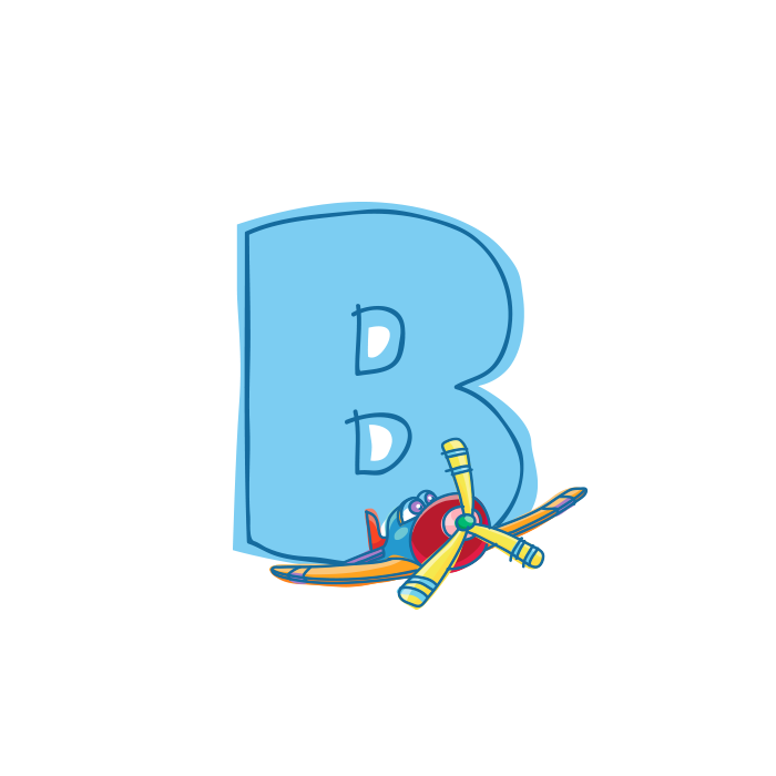 B Wall Adhesive Letters for Kids Rooms