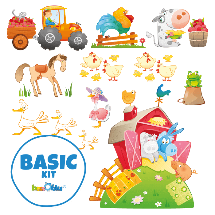 Wall Stickers for Kids Basic Kit The Cheerful Farm