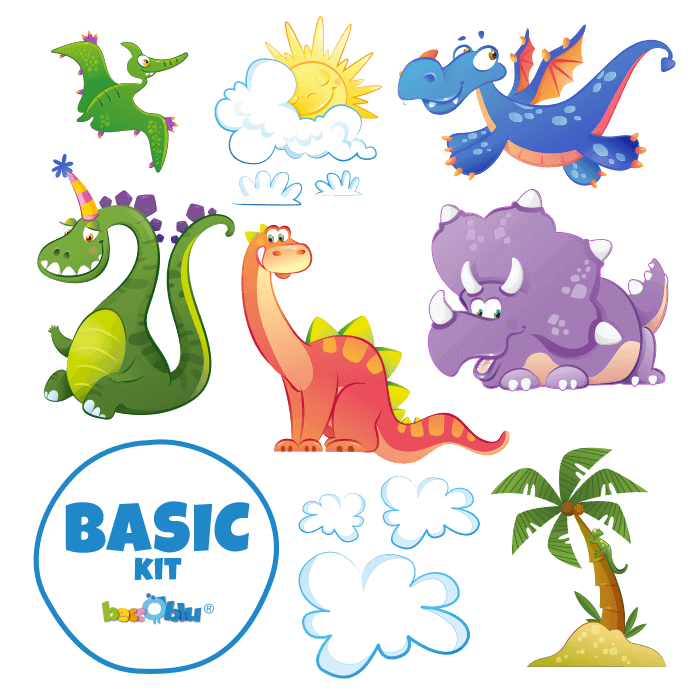 Wall Decals for Kids Basic Kit Come the Dinosaurs