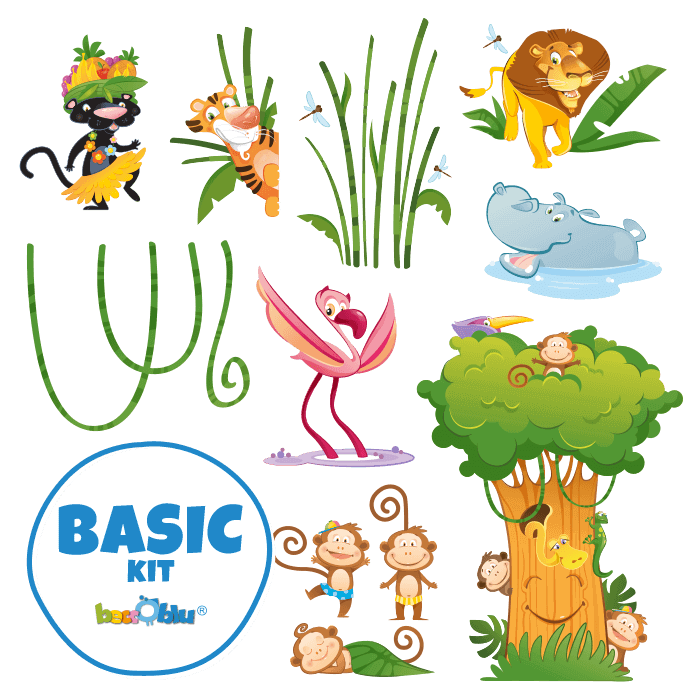 Wall Stickers for Kids Basik KitThe Great Jungle