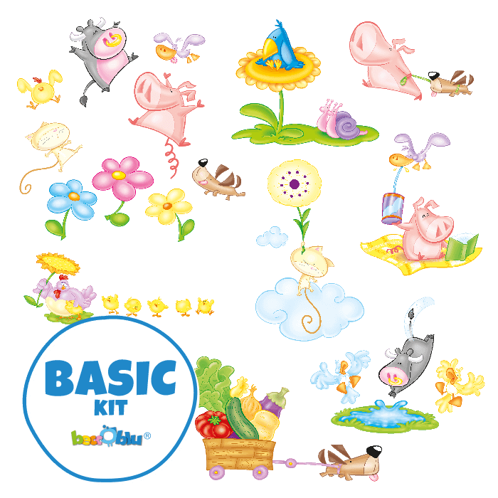 Wall Stickers for Kids Basic Kit In the Country