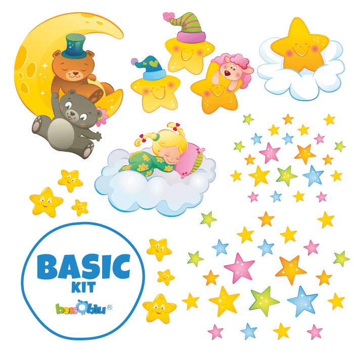 Wall Decors for Kids Basic Kit Moon and Stars