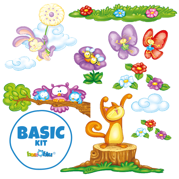 Wall Decals for Kids Basic Kit In the Meadow