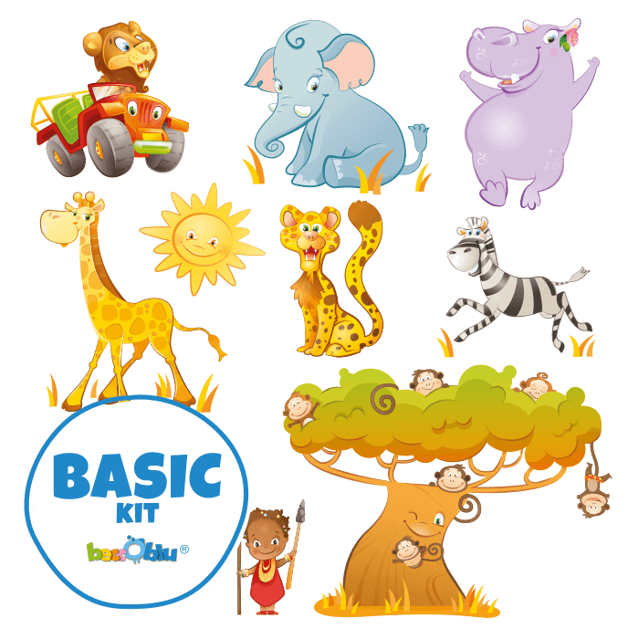 Wall Decors for Kids Basic Kit Safari Park