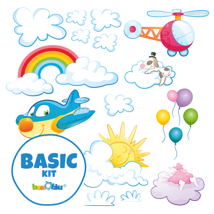 Wall Stickers for Kids Basic Kit In the Clouds