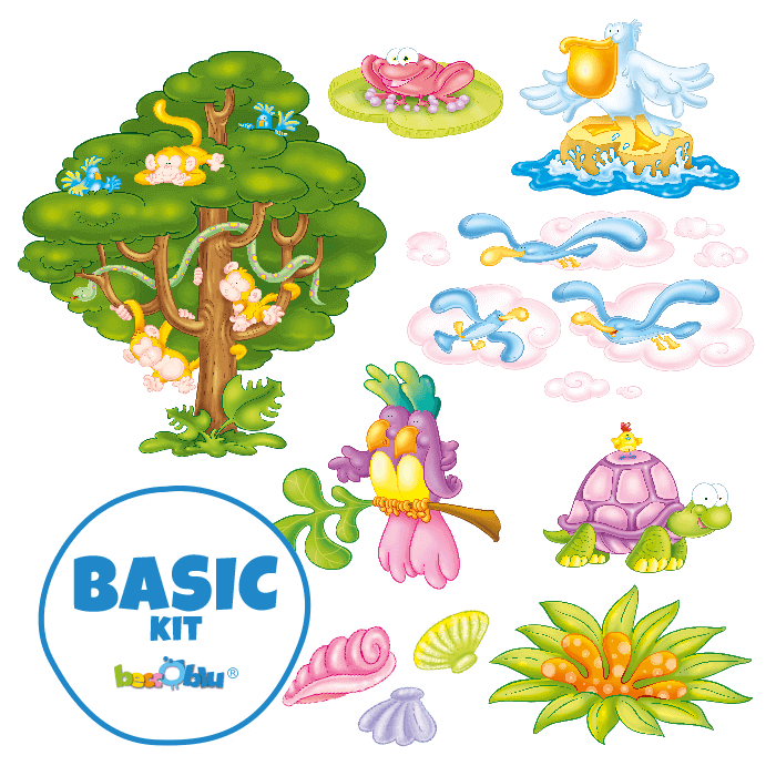 Wall Stickers for Kids Basic Kit Welcome to the Tropics