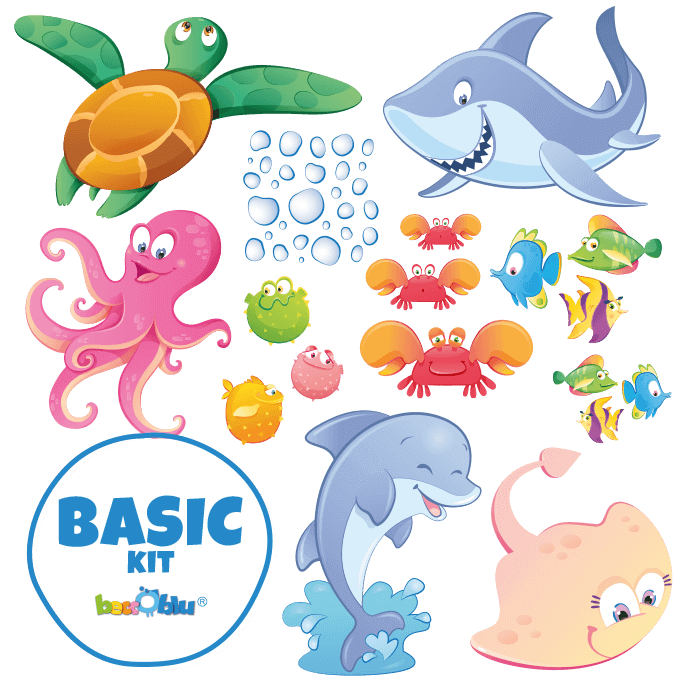 Wall Decors for Kids Basic Kit a Dip in the Sea