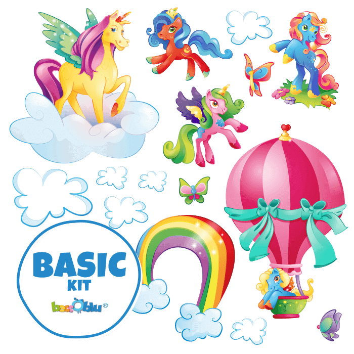 Wallstickers for Children Basic Kit The Magical Unicorns
