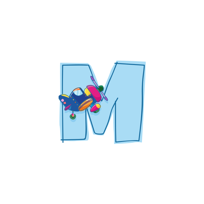 M Wall Adhesive Letters for Kids Rooms