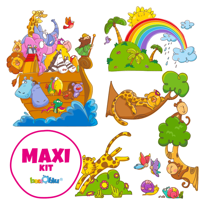 Wall Decors for Kids Maxi Kit Noahs Ark