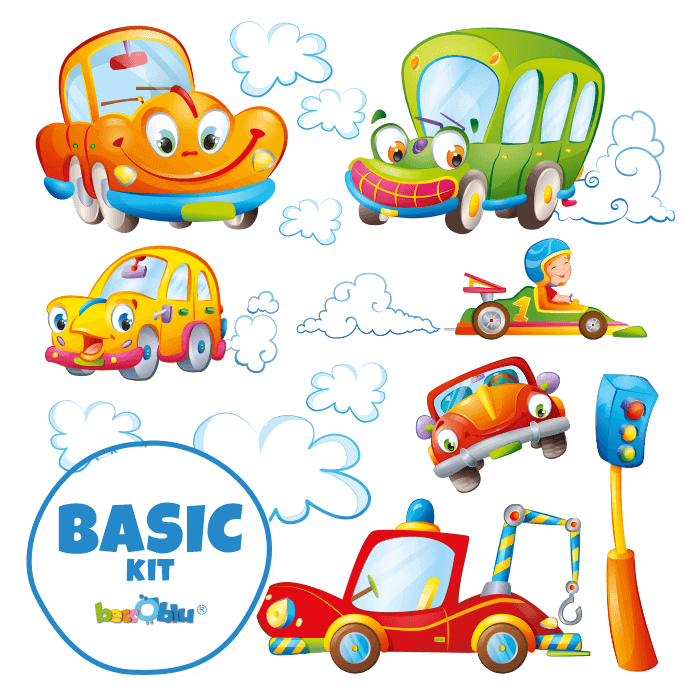 Wall Decals for Kids Basic Kit Behind the Wheel