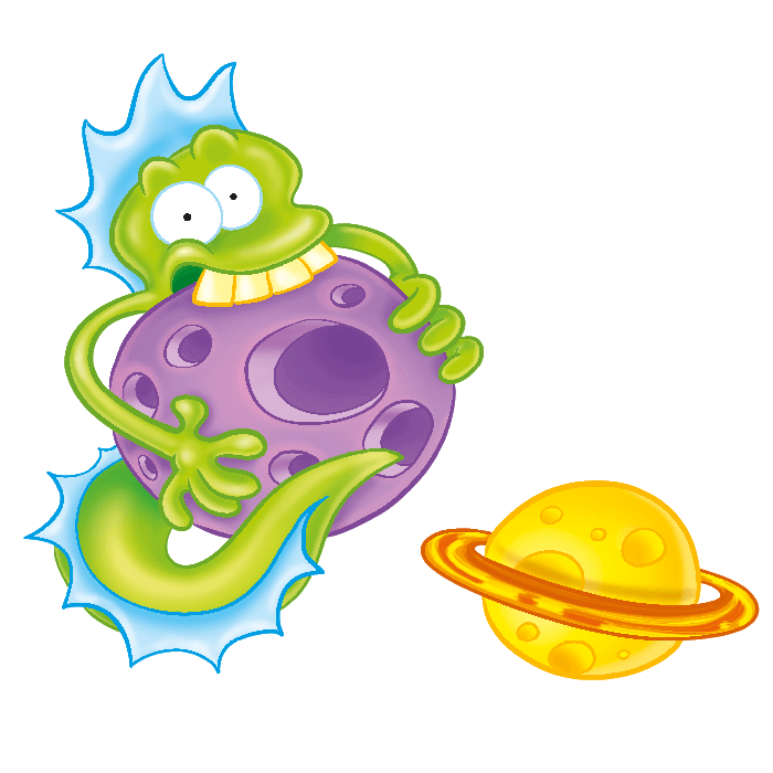 In the Space Wall Decors for Children, Eater Alien Sticker