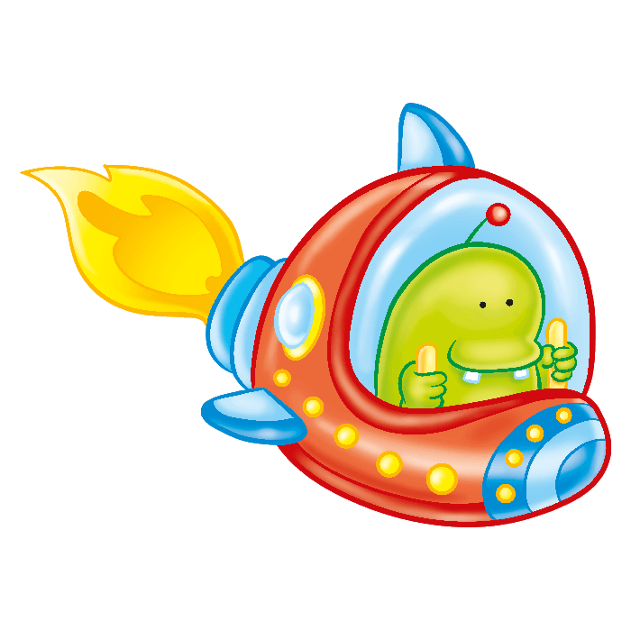 In the Space Wallstickers for Kids, Pilot Alien Sticker