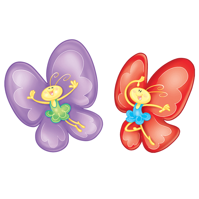 In the Meadow Wall Decors for Children, Cheerful Butterflies Sticker