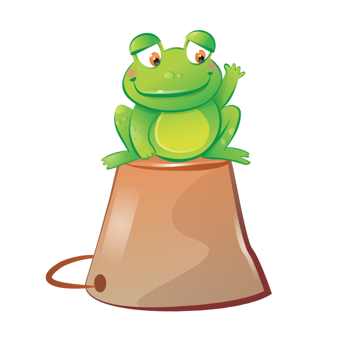 The Cheerful Farm Wallstickers for Kids, Cheerful Frog Sticker