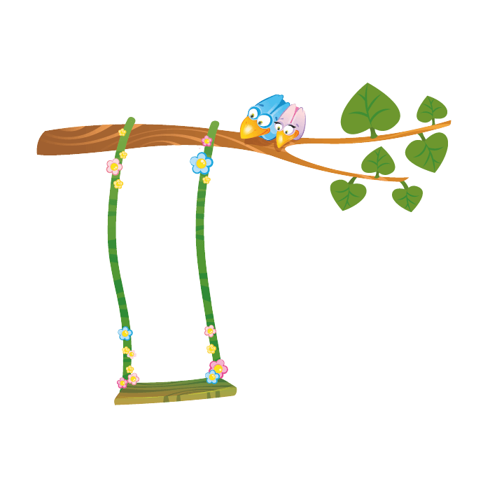 Jungle Wallstickers for Kids, Swing of Vines Sticker