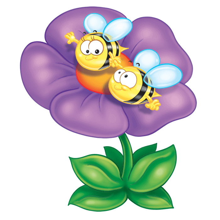 In the Meadow Wall Stickers for Kids, Bee on the Flower Sticker