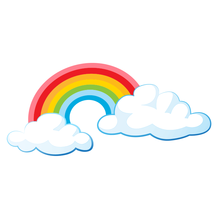 In the Clouds Wall Decals for Kids, Rainbow Sticker