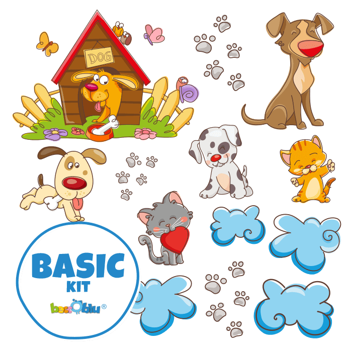 Wall Decors for Children Basic Kit Dogs & Cats