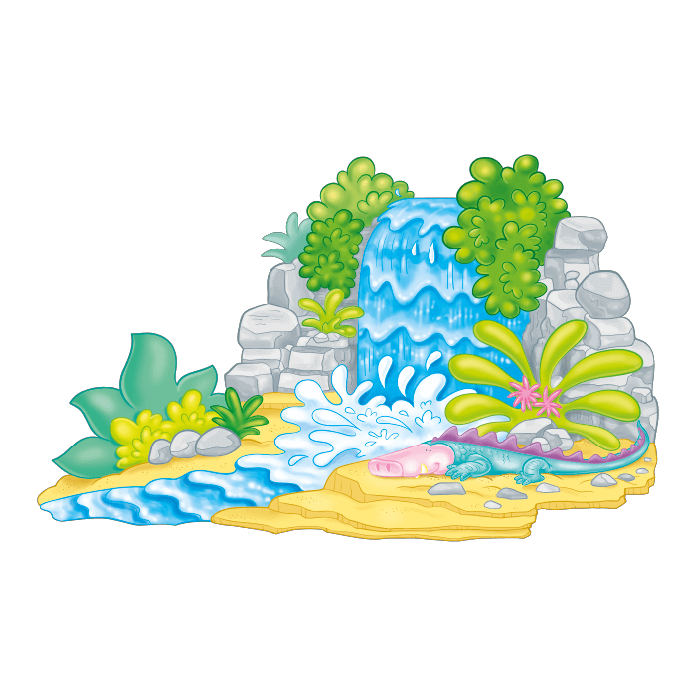 Welcome to the Tropics! Wallstickers for Kids Rooms,  Tropical Waterfall Sticker