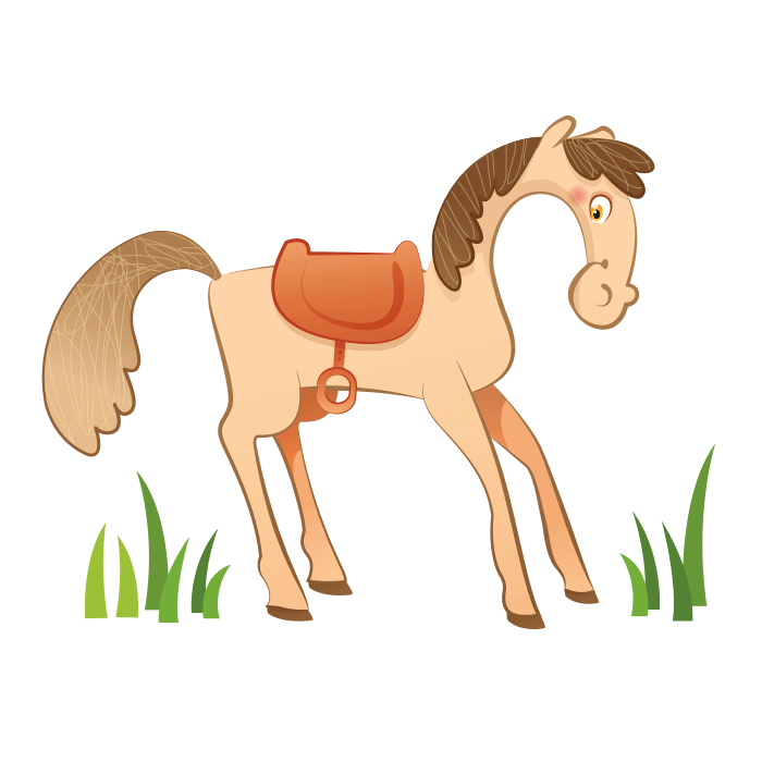 The Cheerful Farm Wallstickers for Kids, Pony Sticker