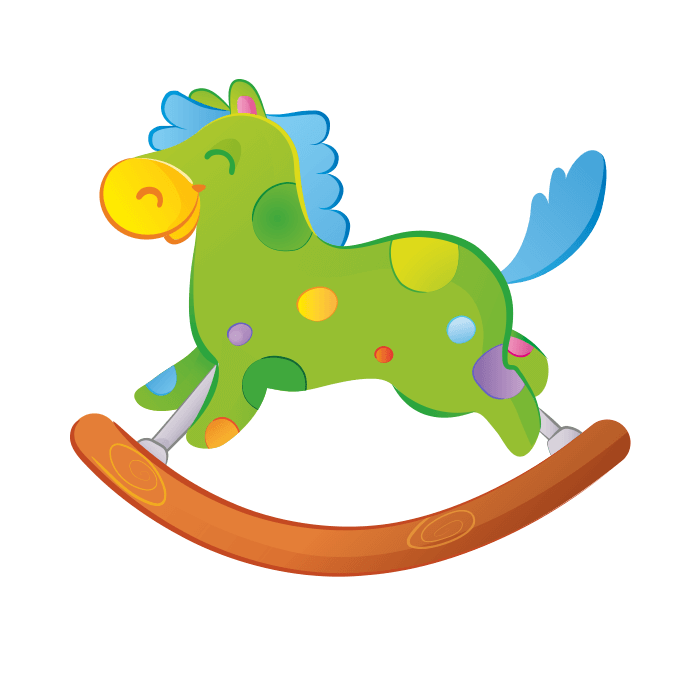 All at the Park Wall Decors for Kids, Rocking Horse Sticker