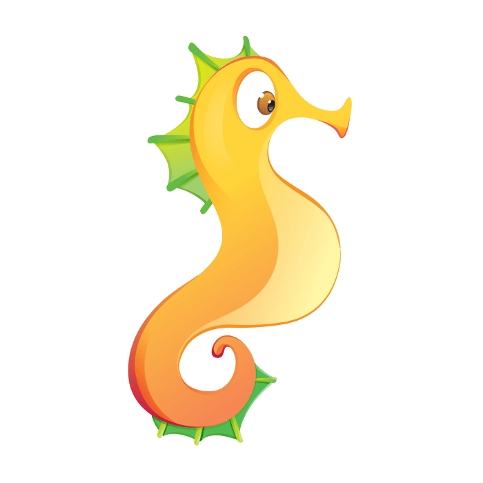 A Dip in the Sea Wallstickers for Kids, Seahorse Sticker