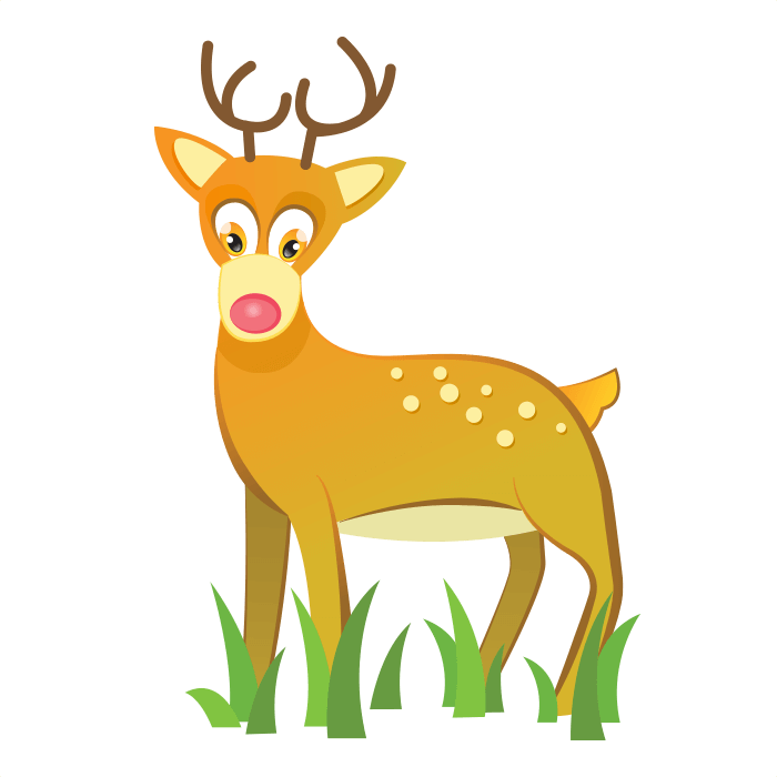 The Friends of the Wool Wallstickers for Kids, Fawn Sticker