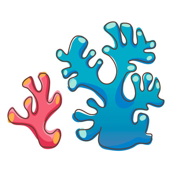 Underwater World Wallstickers for Kids, Corals Sticker