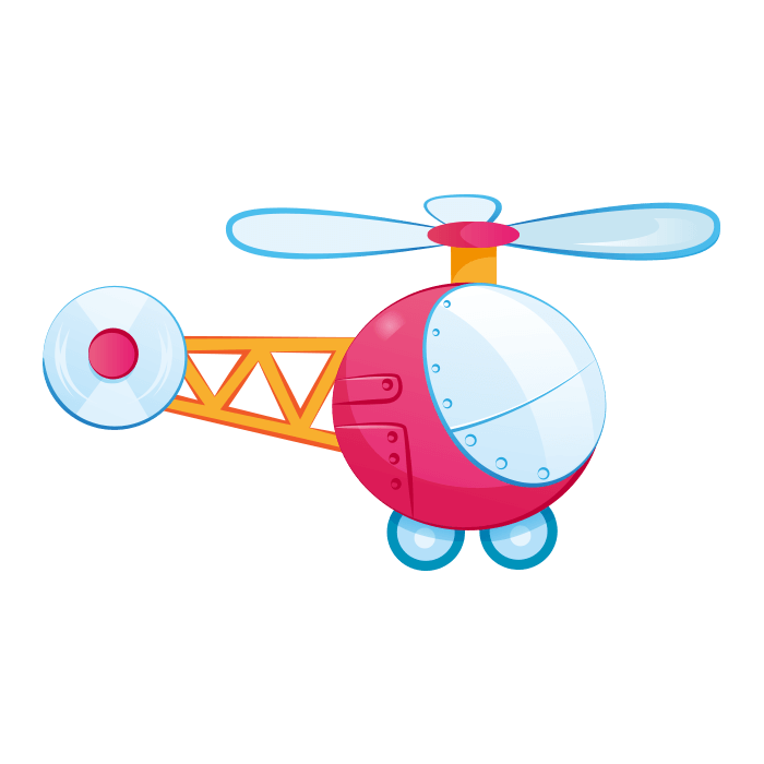 In the Clouds Wallstickers for Children, Small Helicopter Sticker
