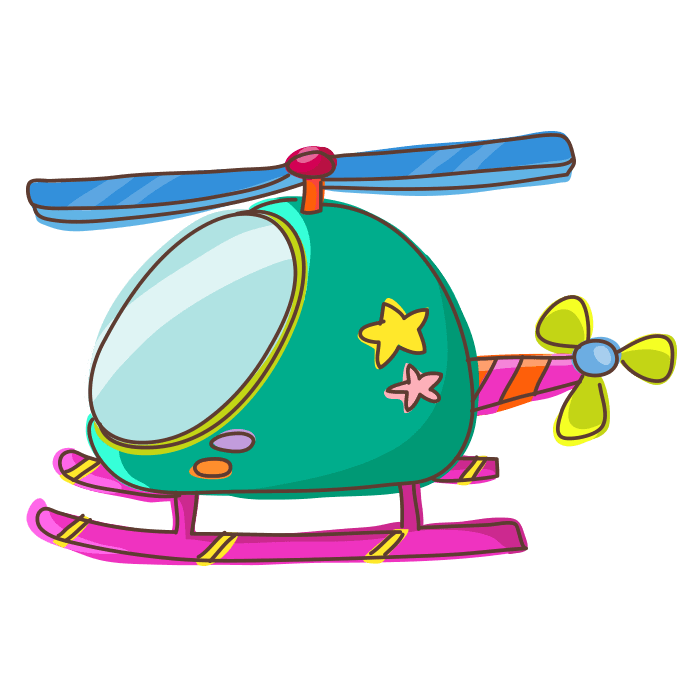 In Flight Wallstickers for Kids, Heavenly Helicopter Sticker