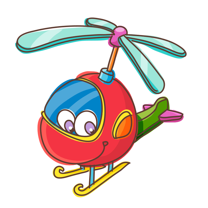 In Flight Wall Decors for Kids, Red Helicopter Sticker