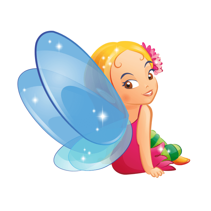 Faries and Elves Wall Decors for Children, Blue Fairy Sticker