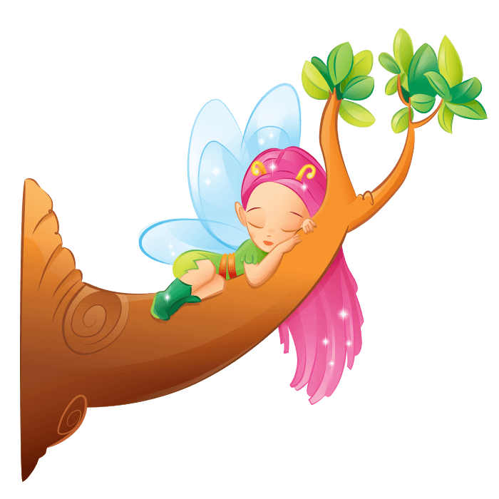 Fairies and Elves Wallstickers for Kids, Fairy on the Branch Sticker